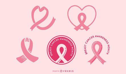 Conjunto de cintas de concienciación sobre el cáncer de mama
