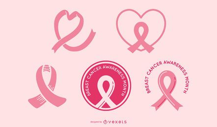 Conjunto de fita de conscientização de câncer de mama