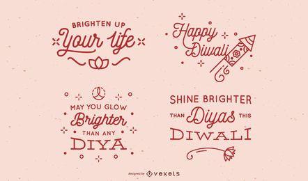 Conjunto de letras simples Diwali