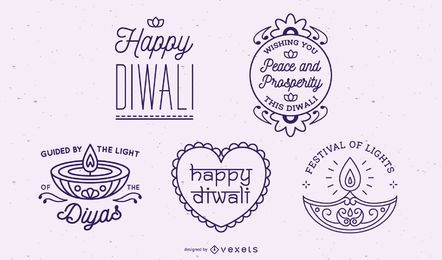Diwali lettering collection