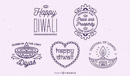 Diwali Schriftzug Sammlung