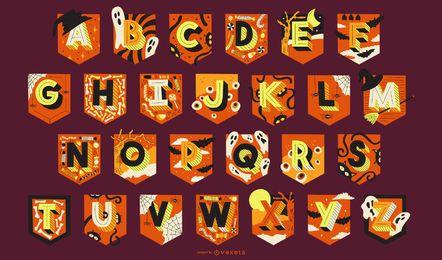 Pacote de letras de guirlanda de alfabeto de Halloween