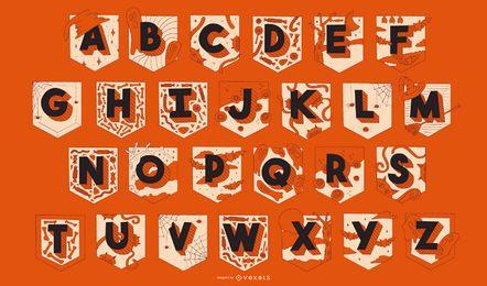 Conjunto de guirlanda de alfabeto de Halloween