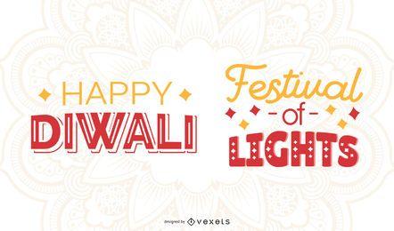 Diwali Schriftzug Set