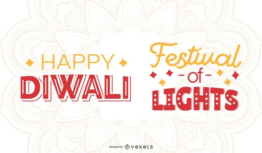Diwali lettering set