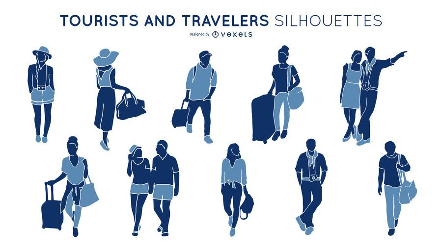 Tourist and Traveles People Silhouette Pack
