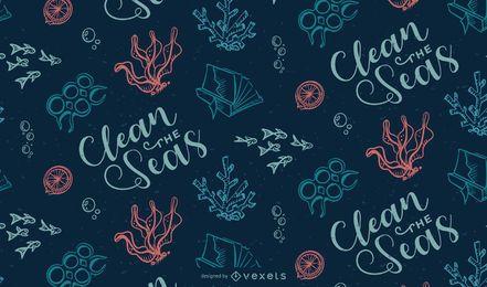 Projeto do teste padrão do lixo do oceano