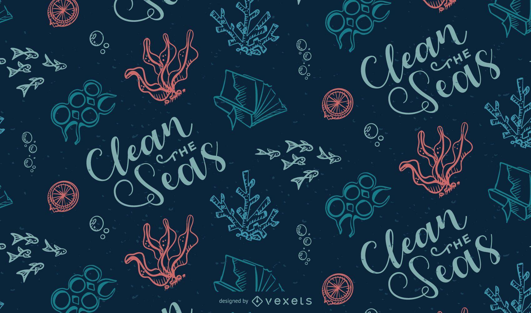 Diseño de patrón de basura oceánica