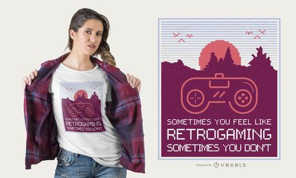 Retrogaming design de t-shirt