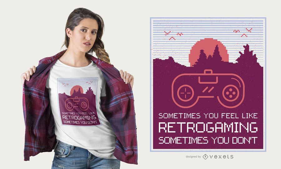 Retrogaming design de t-shirt
