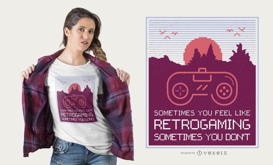 Retrogaming t-shirt design