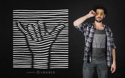 Diseño de camiseta 3D shaka