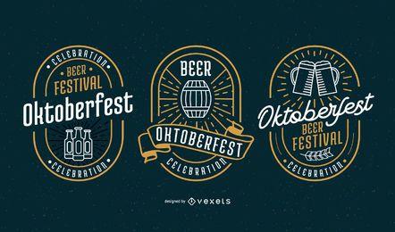 Oktoberfest-Abzeichen-Vektor-Set