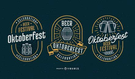 Oktoberfest Badge Vector Set