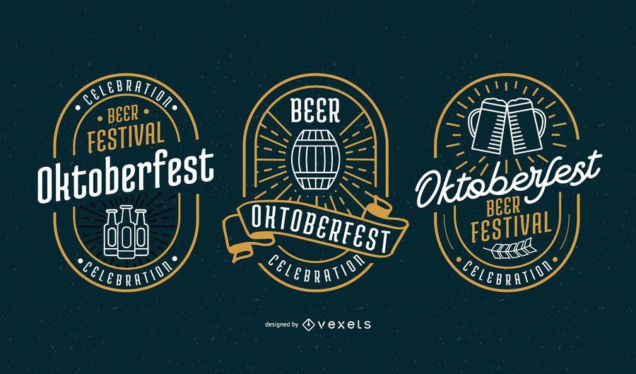 Conjunto de vetores de distintivo de Oktoberfest