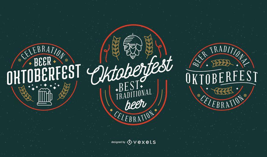 Coleção de vetores de festa Oktoberfest
