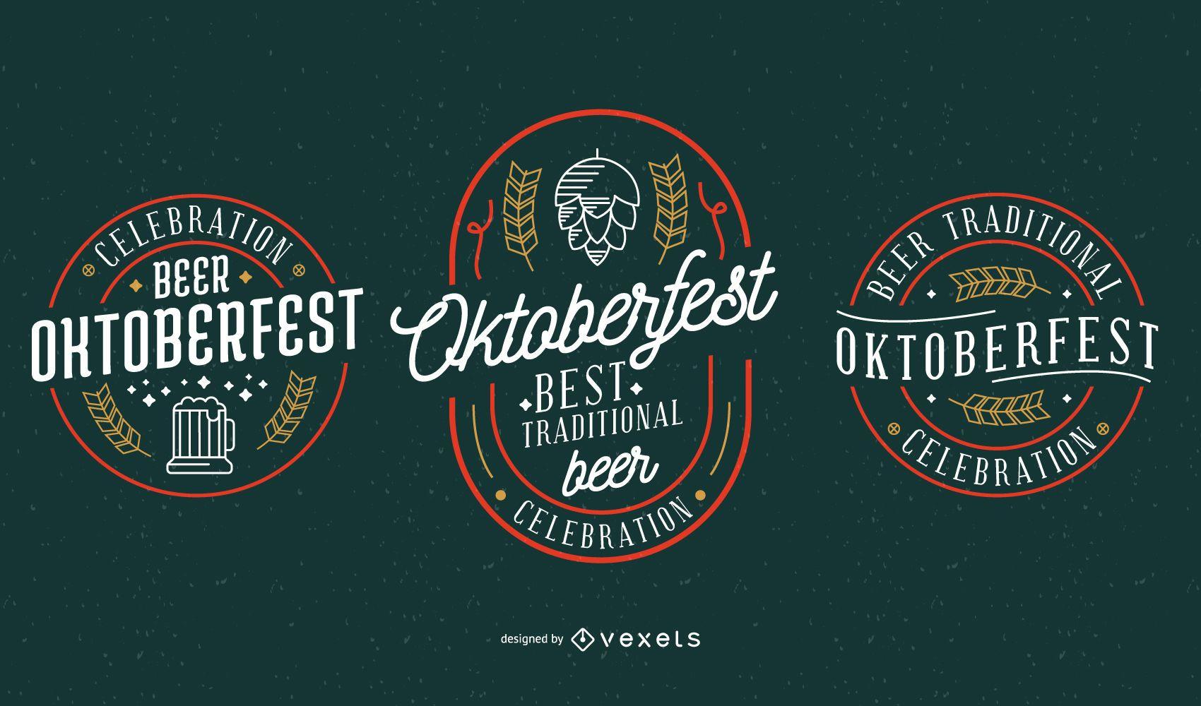 Coleção de vetores de festa da Oktoberfest
