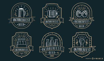 Coleção de emblemas da Oktoberfest
