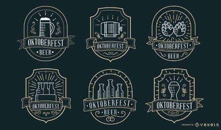 Colección de insignias de Oktoberfest