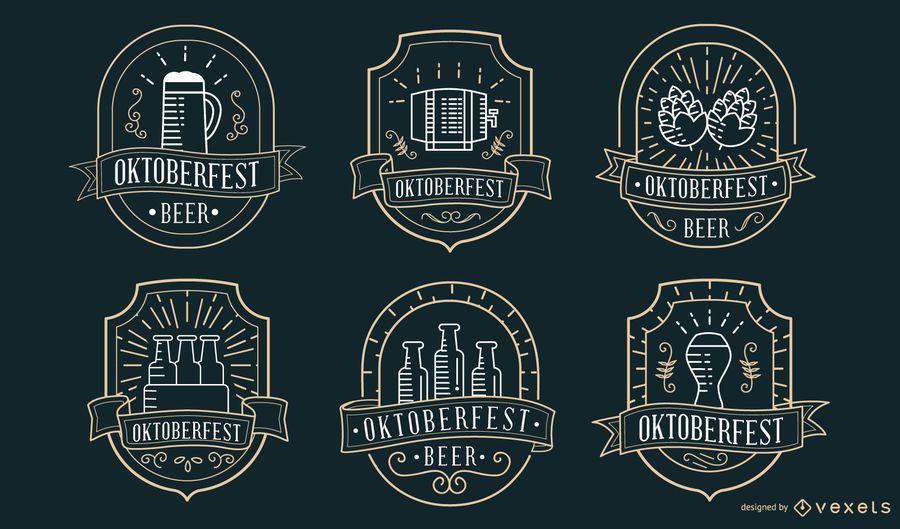 Coleção de crachá Oktoberfest