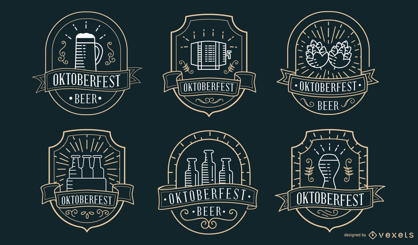 Colecci?n de insignias de Oktoberfest