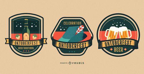 Conjunto de insignias de oktoberfest colorido