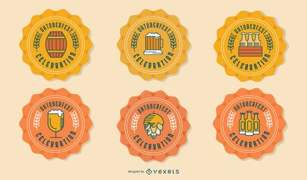 Oktoberfest beer badge set