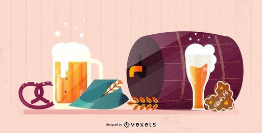 Oktoberfest Elemente Illustration