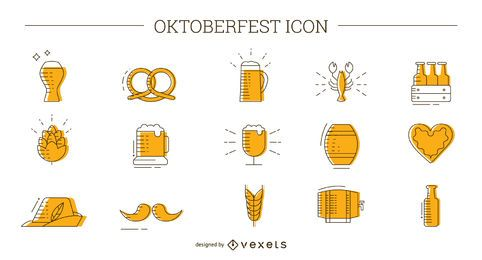 Conjunto de ícones da Oktoberfest