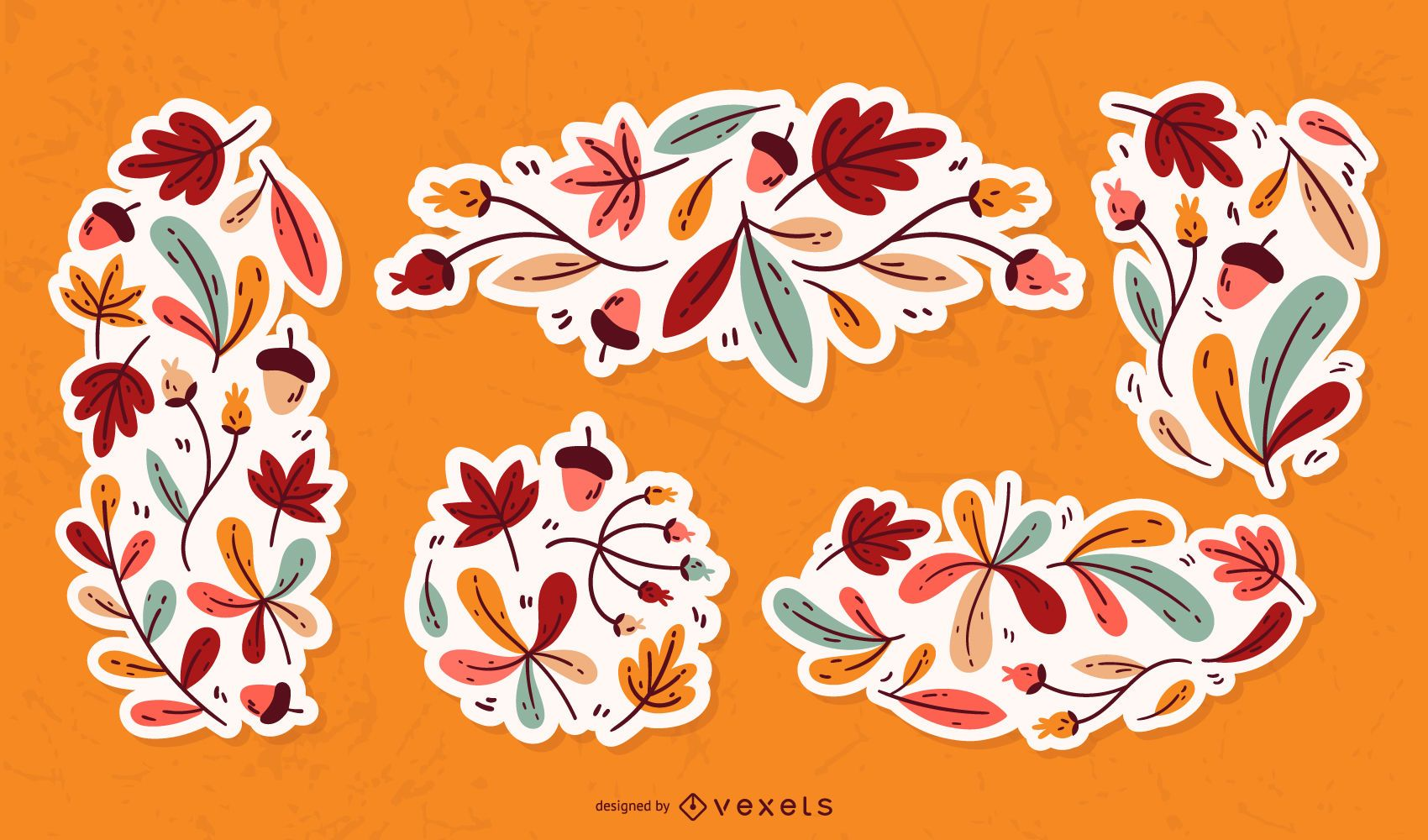 Fall Leaves Ornament Set