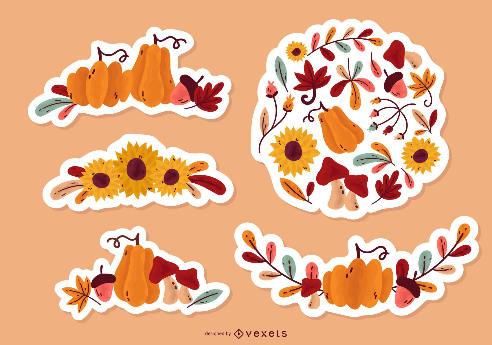 Fall Floral Sticker Pack