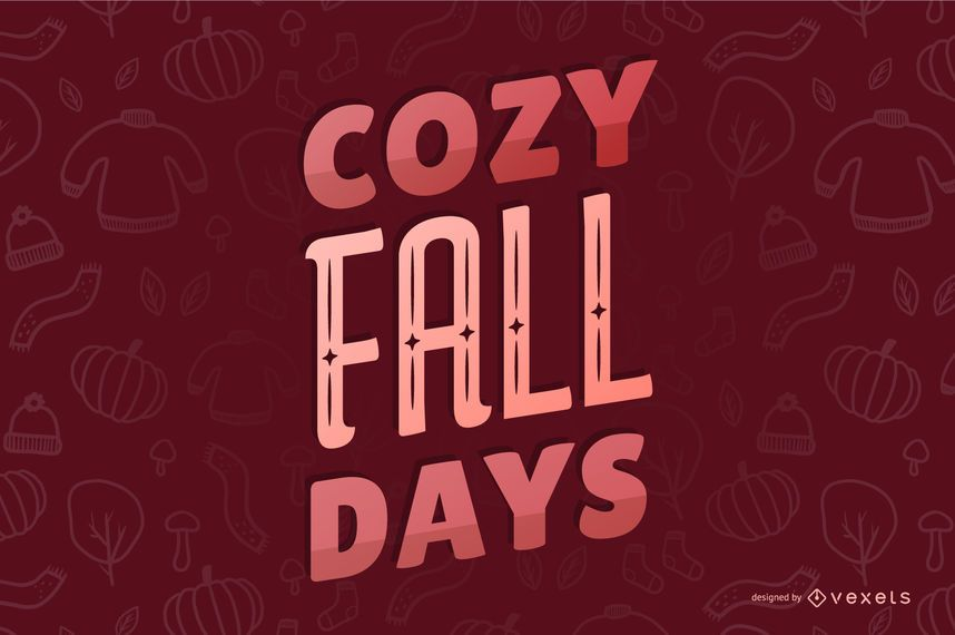 Cozy Fall Lettering Quote Banner