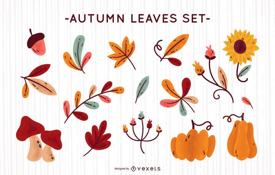 Coleção de vetores de natureza outono