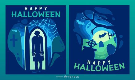 Halloween-gespenstisches papercut Fahnenset