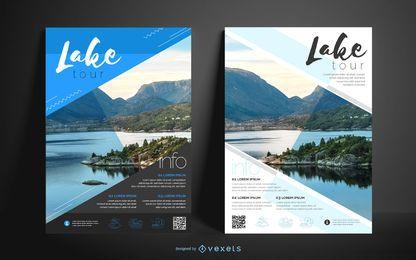 Design de cartaz comercial de lago