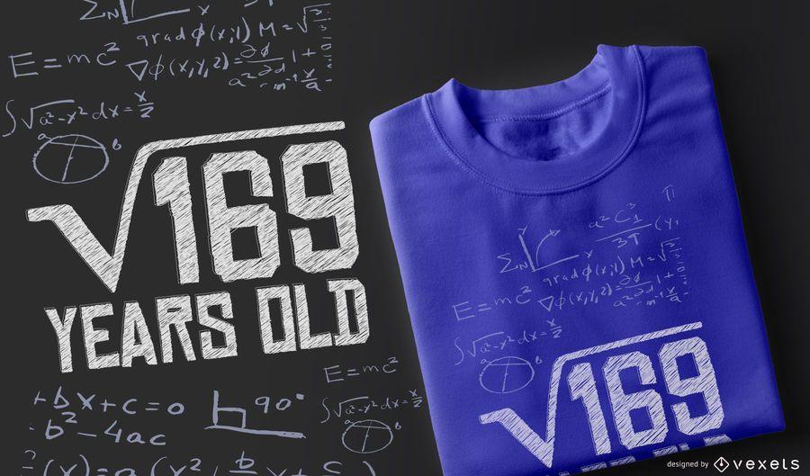 Diseño de camiseta de cumpleaños de matemáticas
