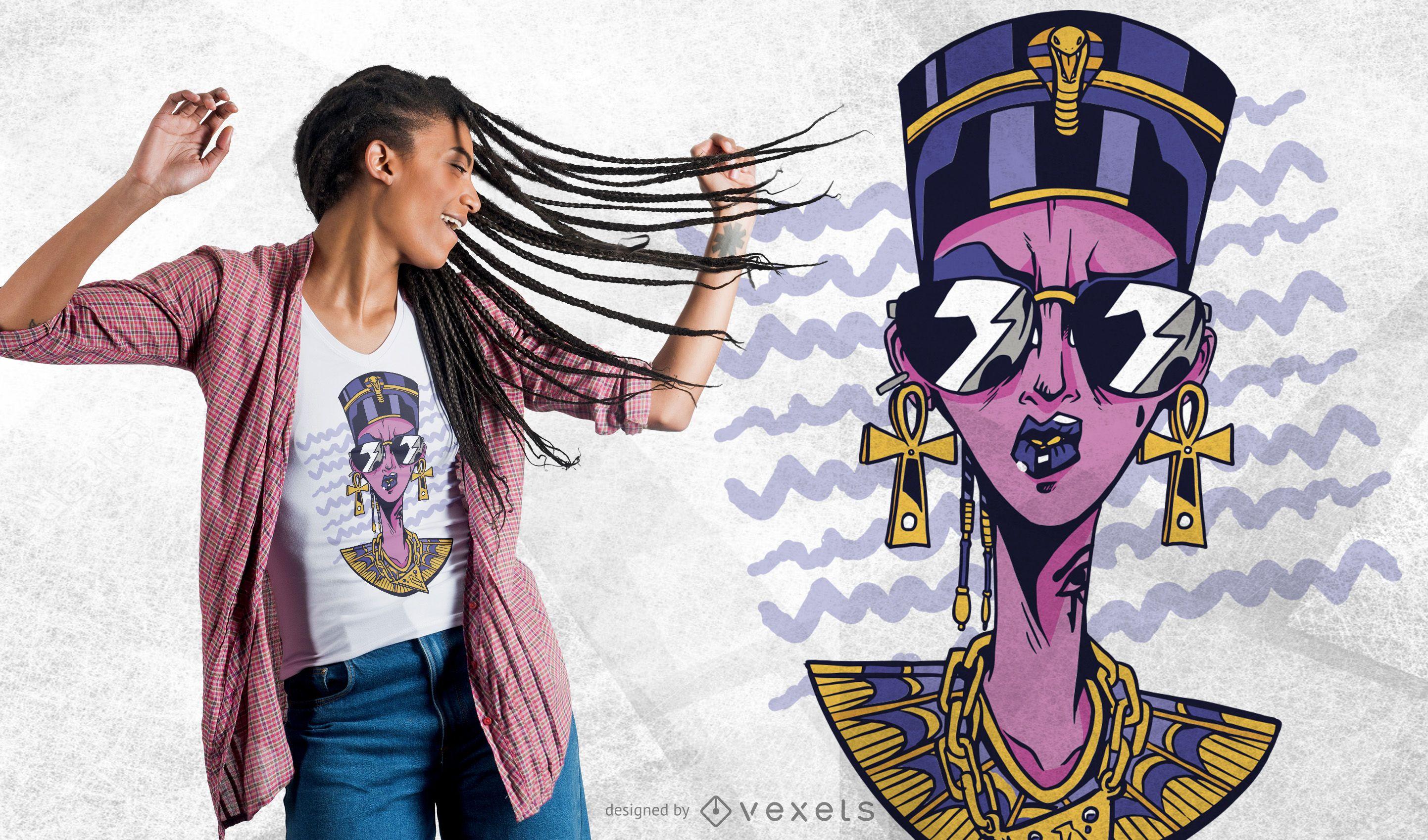 Cool Nefertiti t-shirt design