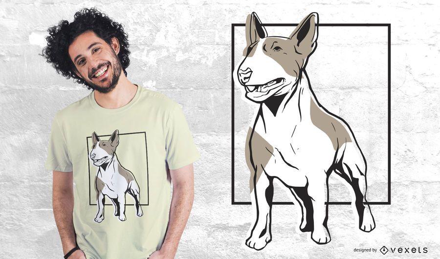 Design de t-shirt de bull terrier