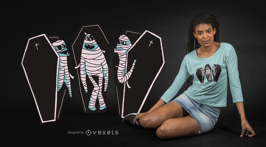Funny mummies t-shirt design