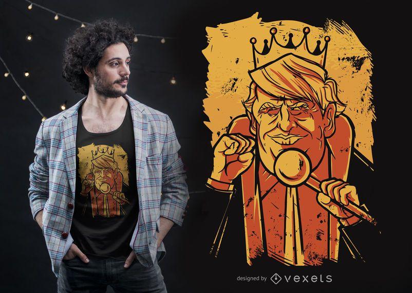 Projeto do t-shirt do rei de Donald Trump