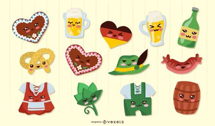 Oktoberfest kawaii elements