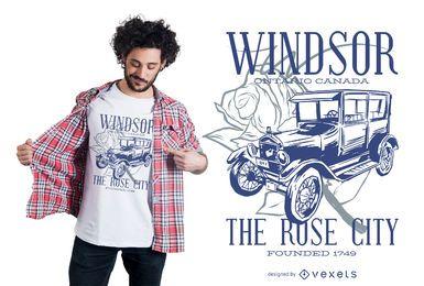 Projeto do t-shirt do carro de Windsor