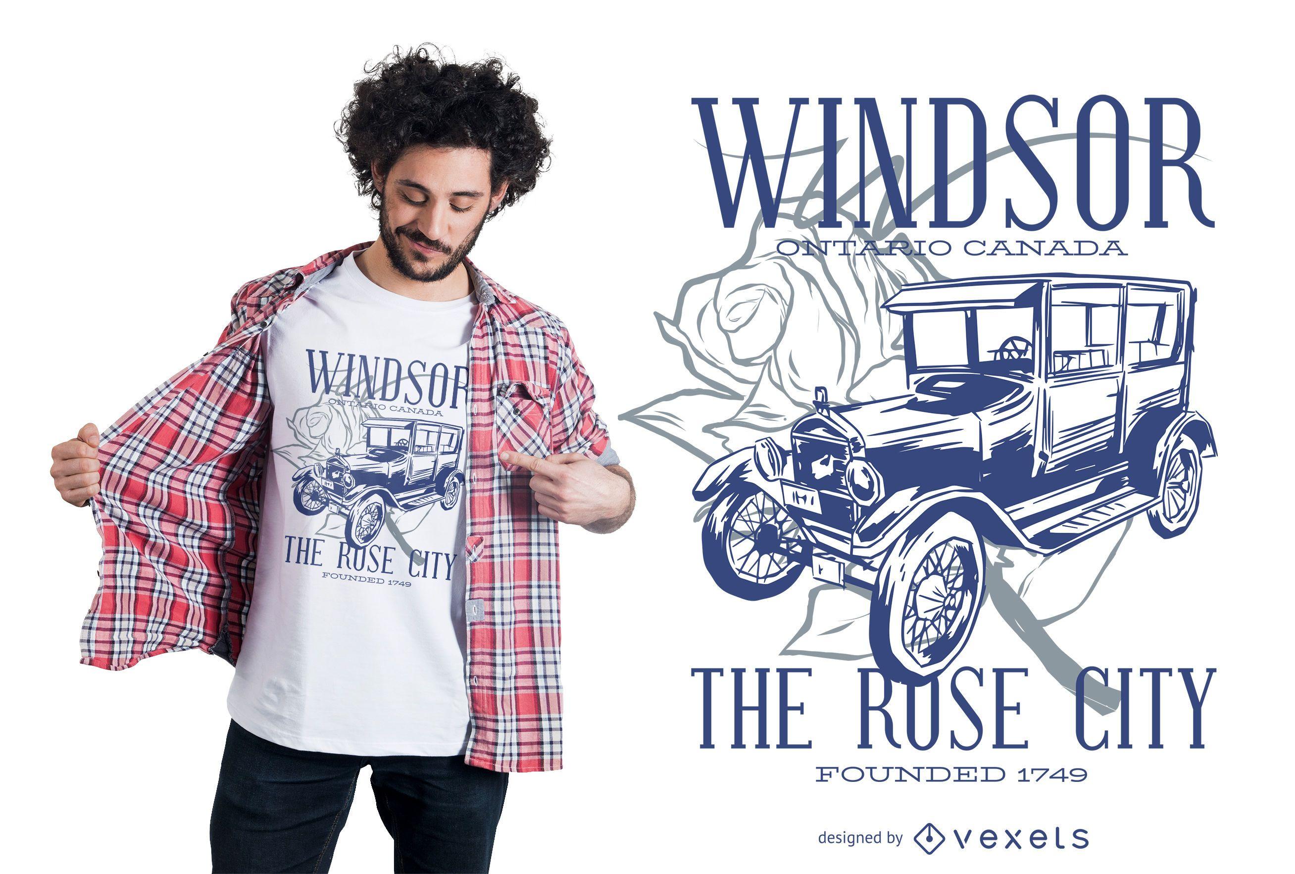 Windsor car t-shirt design