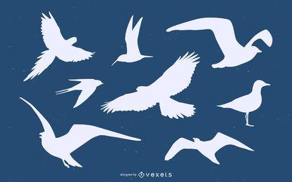 Pacote de silhueta de pássaro