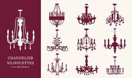 Chandelier Silhouette Set