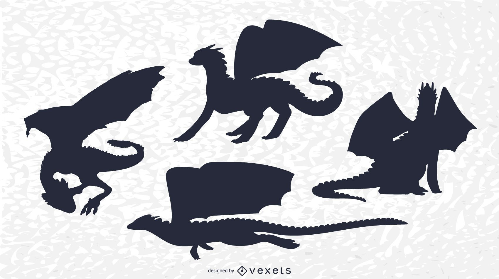 Classic Dragon Silhouette Set