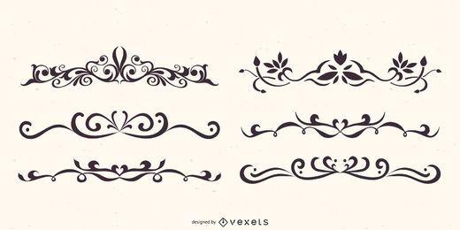 Conjunto de vectores de divisores florales