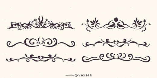 Floral Dividers Vector Set