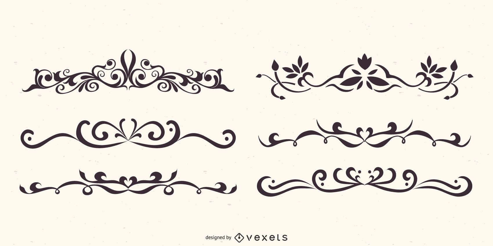 Floral Dividers Vector Set