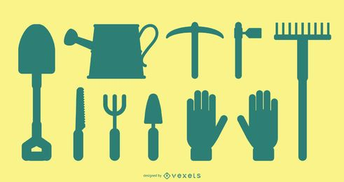 Gardening Tools Silhouette Pack